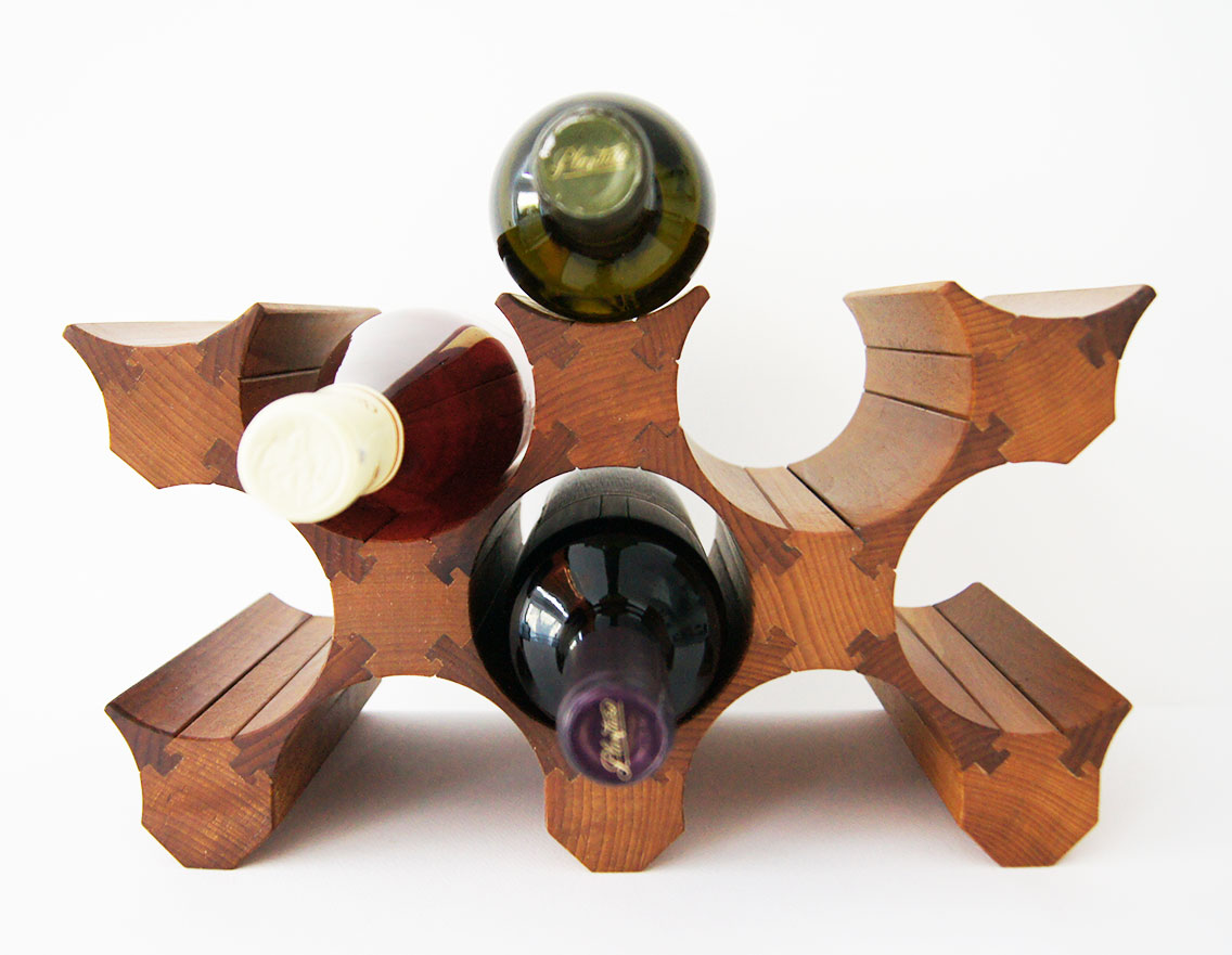 Стеллаж винный из натурального дерева на 12 бутылок вина