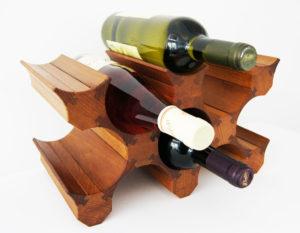 Стеллаж деревянный на 12 бутылок вина