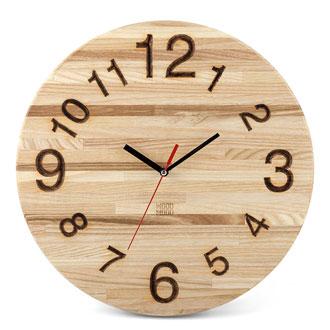 Часы настенные деревянные Ясень Элегант 004