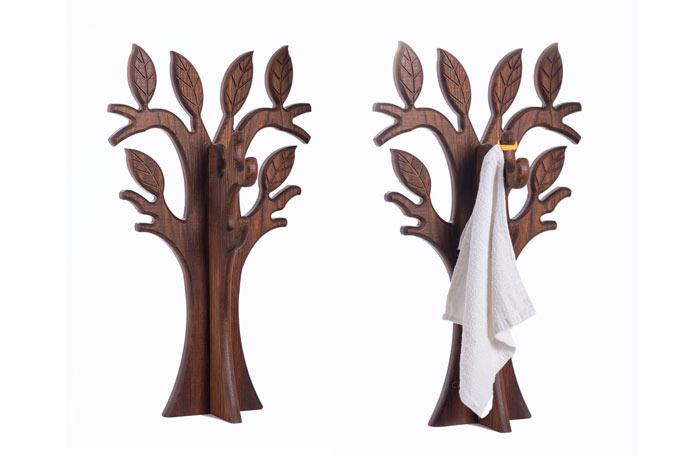 Деревянные аксессуары для ванный комнаты