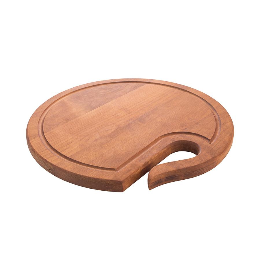 Доска разделочная деревянная круглая