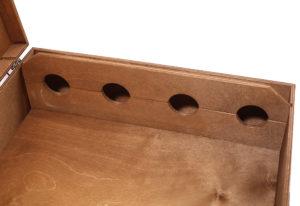 Упаковка коробка деревянная для 4 бутылок вина