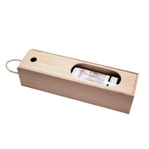 Коробка подарочная пенал деревянная для 1 бутылки вина