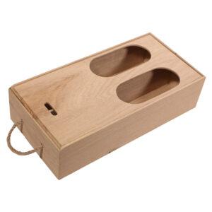 Пенал коробка для 2 бутылок вина