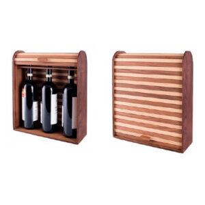 уникальная деревянная подарочная упаковка для 3 бутылок вина на заказ