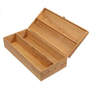 Подарочная деревянная коробка упаковка для 2 бутылок вина