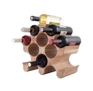 Винная полка деревянная для бутылок вина