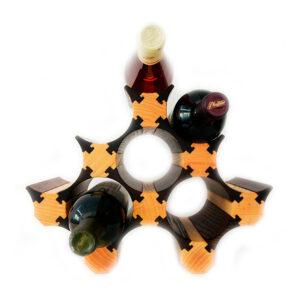 Стеллаж винный из дерева для дома