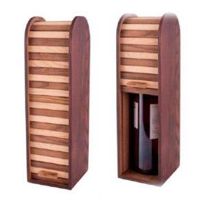 уникальная деревянная подарочная упаковка для вина на заказ