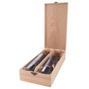 Упаковка для 2 бутылок деревянная