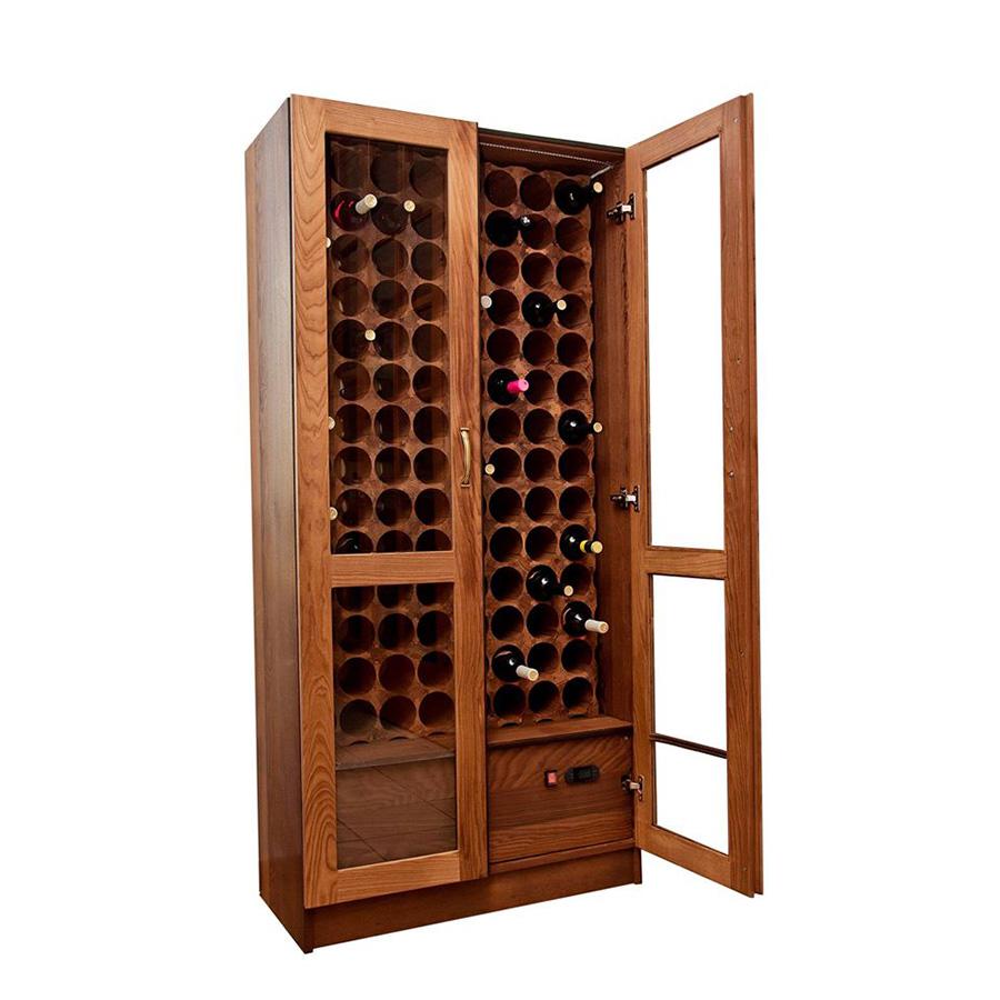 Деревянный винный шкаф витрина на заказ