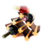 Стеллаж винный из дерева для домашнего бара
