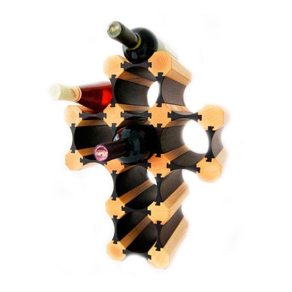 Оригинальный винный стеллаж деревянный Крест