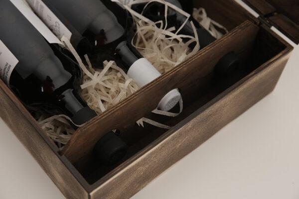 Деревянная упаковка для бутылок вина на заказ