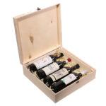 Упаковка деревянная коробка для 4 бутылок вина