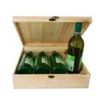 Упаковка для 4 бутылок вина натуральная