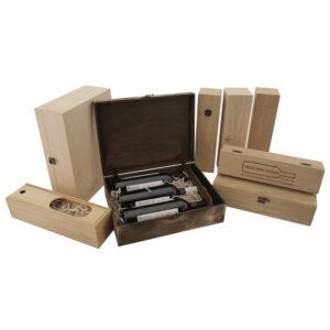 Подарочная упаковка деревянная для вина на заказ