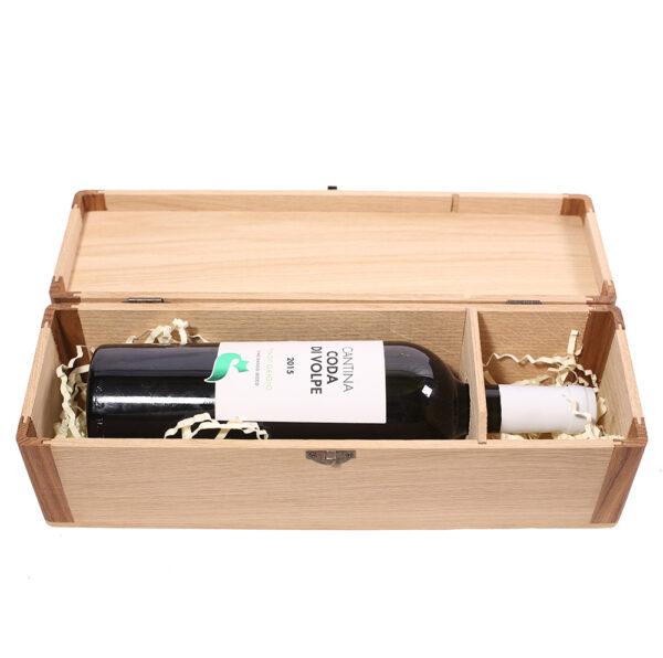 Коробка подарочная деревянная на 1 бутылку вина алкоголя