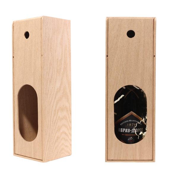 Подарочная деревянная коробка упаковка для шампанского