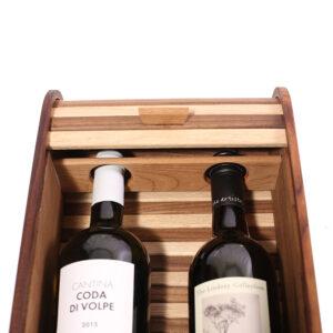 уникальная деревянная подарочная упаковка для 2 бутылок вина на заказ
