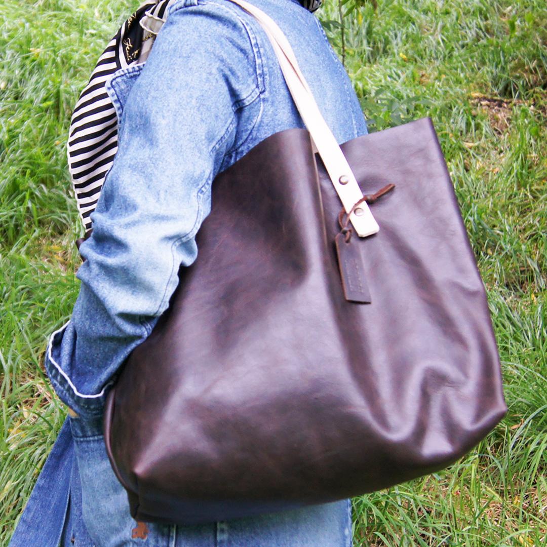 Женская кожаная сумка Шоппер тоут
